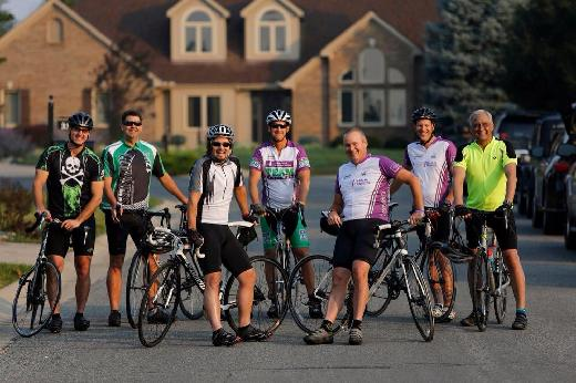 Dr. Wolf and Biking Team